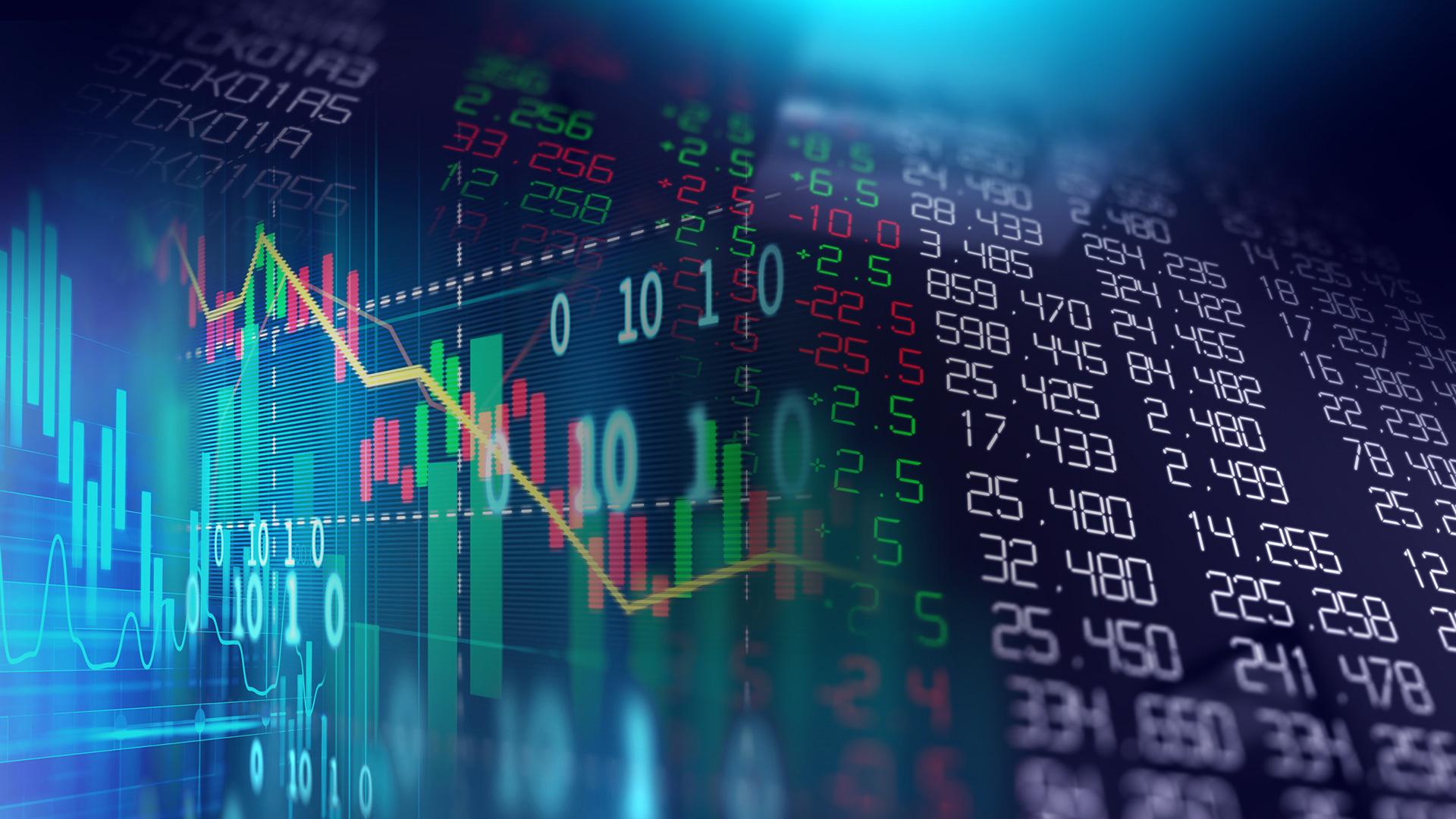 Financial stock market graph illustration